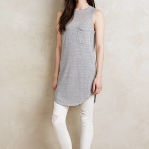 Anthropologie Callahan Linen Tunic Tank Dress